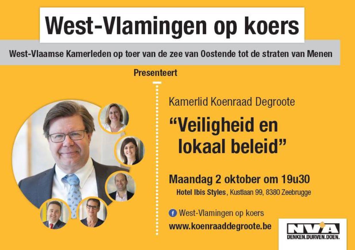 Gespreksavond met Koenraad Degroote in Zeebrugge over migratie (N-VA)