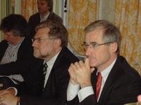 Minister van Toerisme Geert Bourgeois en Jean-Marie Bogaert